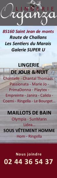 boutique Lingerie Organza - St Jean de Monts - 85160